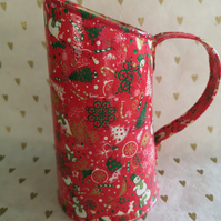 Christmas Red Decorative Jug