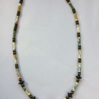 Summer Paper Bead Necklace
