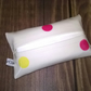Tissue holder, Cream with pink, yellow, blue spots, for pocket or handbag, new