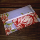 Tissue holder, Oilcloth, Pale blue with pink flowers, tissues included,
