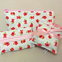 Make up bag gift set with tissue holder and lavender bags, gift idea