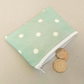 SALE - Turquoise coin purse with white spots