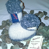 Baby  Booties 0-6 months with wool & cashmere content