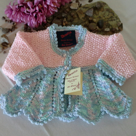 WAS 24.50 NOW 17.50 Baby Girls Cardigan  0-6 months
