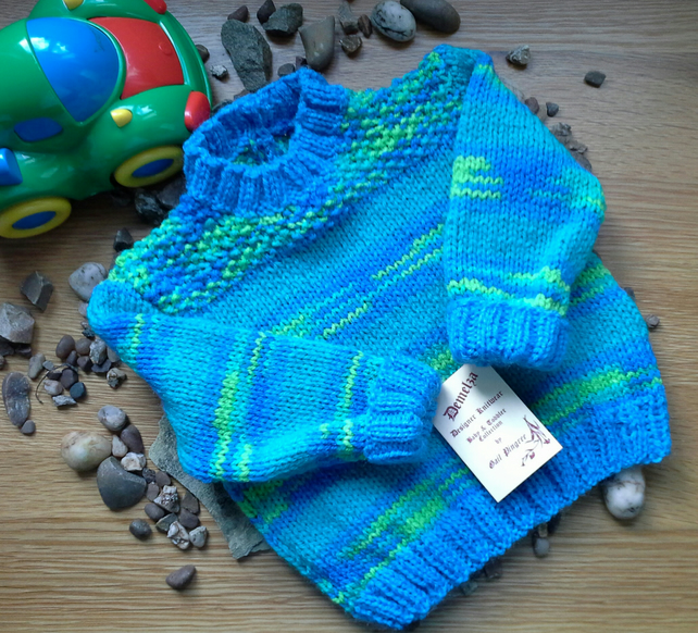 Baby Boys Jumper and Booties 0-6 months