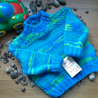 SALE ITEM Baby Boys Jumper and Booties 0-6 months