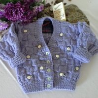 Baby Girl's Hand Knitted Cardigan   3-6 months size