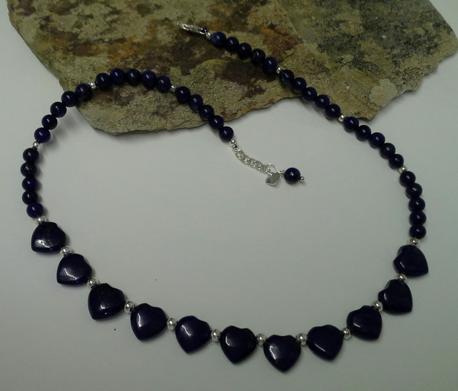 Lapis Lazuli Necklace 925 Sterling Silver