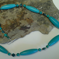 Turquoise 925 Sterling Silver Necklace