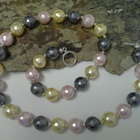 ONE OFF Large Faceted Shell Pearl Necklace