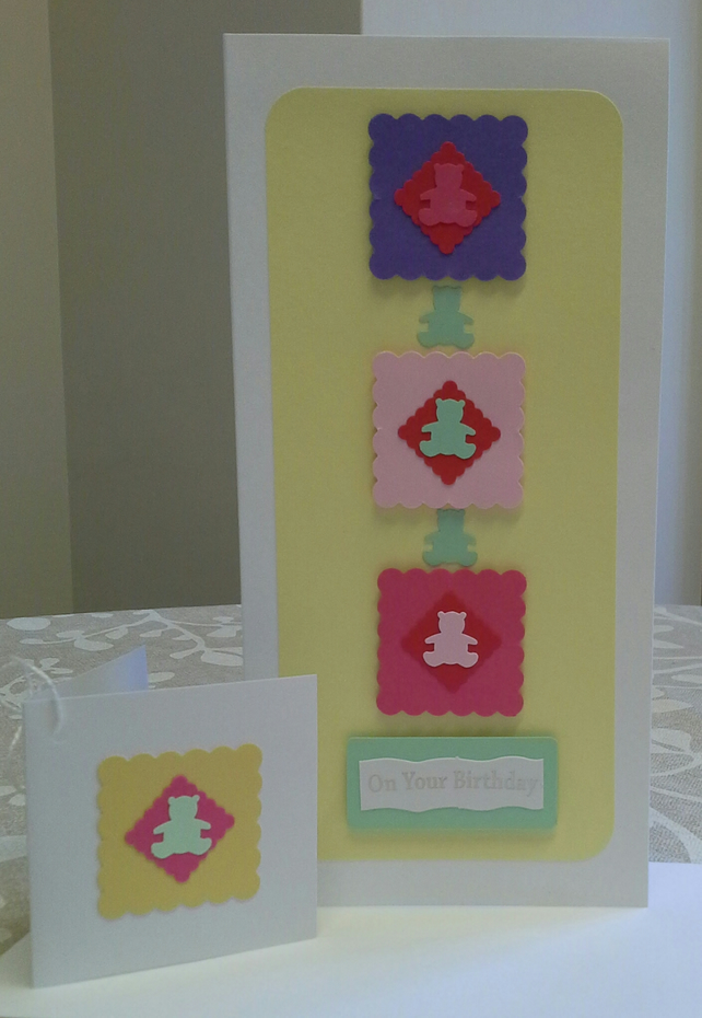 Girls Birthday Card & Gift Tag