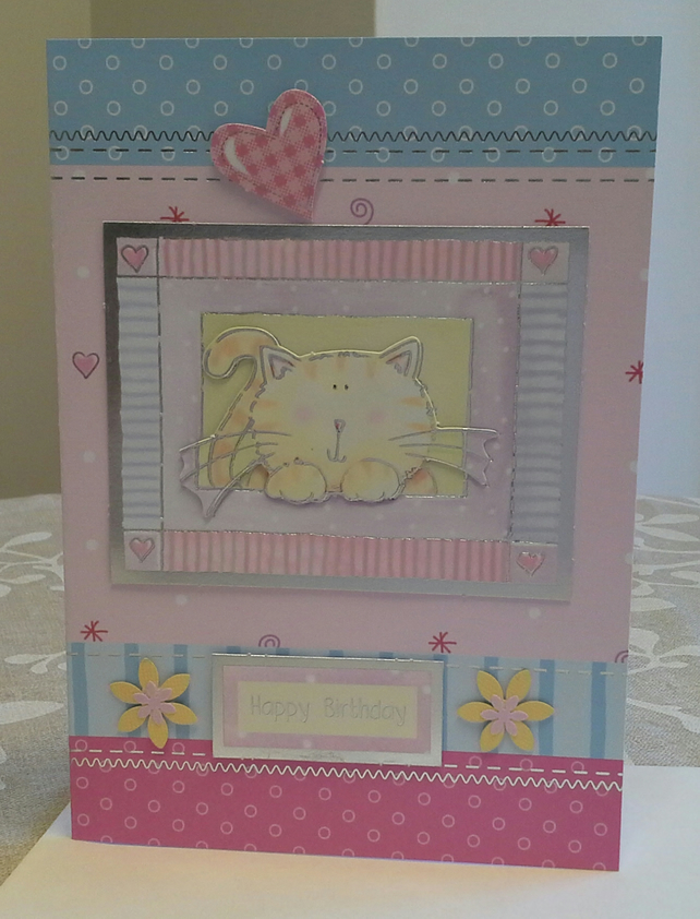 Girls Birthday Card large A5 size