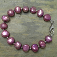 Large Freshwater Cultured Pearls Bracelet