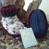 Baby Boys Thick Winter Booties 0-6 Months