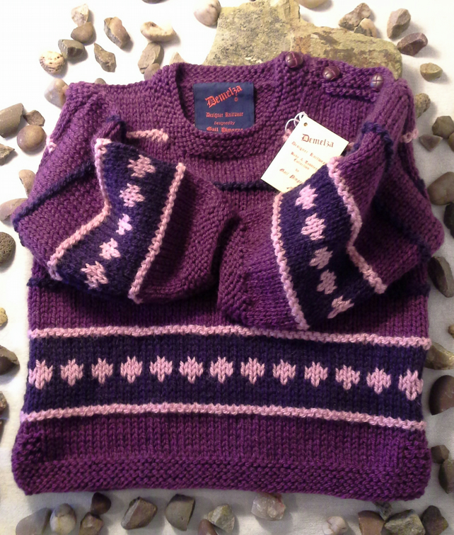 Baby Girls Aran Tunic Jumper 12.18 months