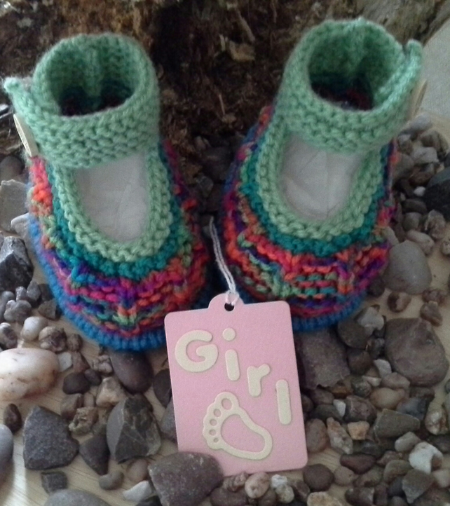 Unisex Hand Knitted Baby Shoes