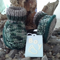 Baby Boy's Aran Outdoor Boots with wool Size 0-6 months