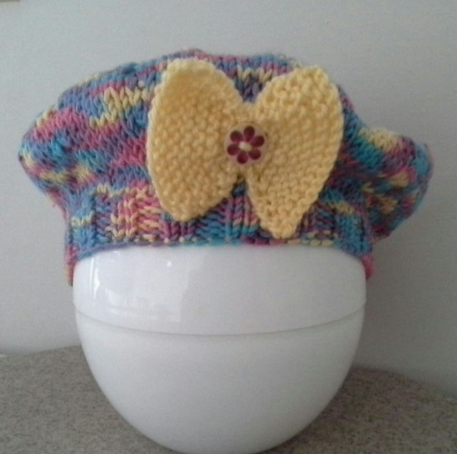 Baby Girl's Luxery  Hand Knitted Hat 0-6  months size