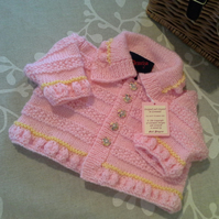 SALE ITEM Baby Girls Matinee Jacket  0-6 months size