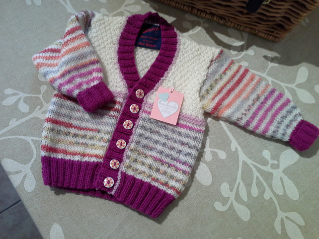 Girl's Baby Cardigan 6-12 months Size