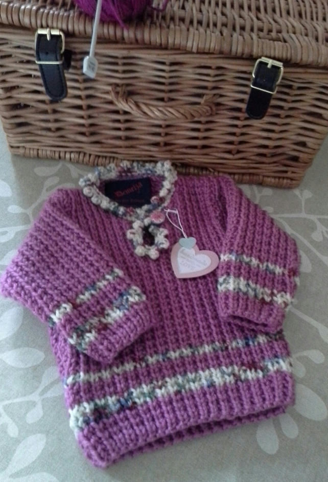 Baby Girls Super Soft Aran Jumper 0-6 months