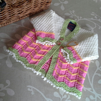 Baby Girl's Knitted Cardigan  0-6 months