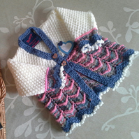Baby Girls Knitted Cardigan  6-12 months size
