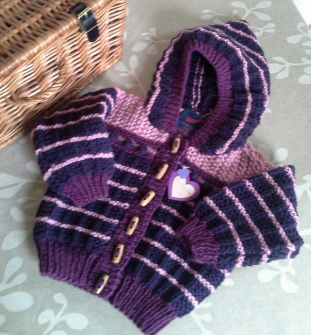 Baby Girl's Aran Hooded Jacket  9-18 months