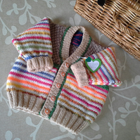 Unisex Baby Cardigan with wool   6-12 months size