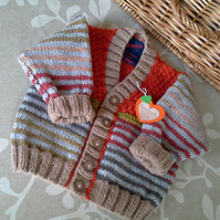 Baby Boys Cardigan  with wool 9-18  months size