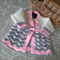 SALE ITEM Baby Girl's Cardigan  3-9 months size