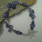 "Genuine Tanzanite Sterling Silver Bracelet 7.5"" inches"