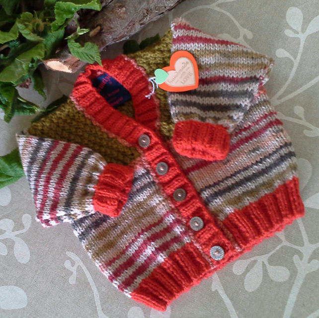 Unisex Baby Cardigan with wool   6-12 months