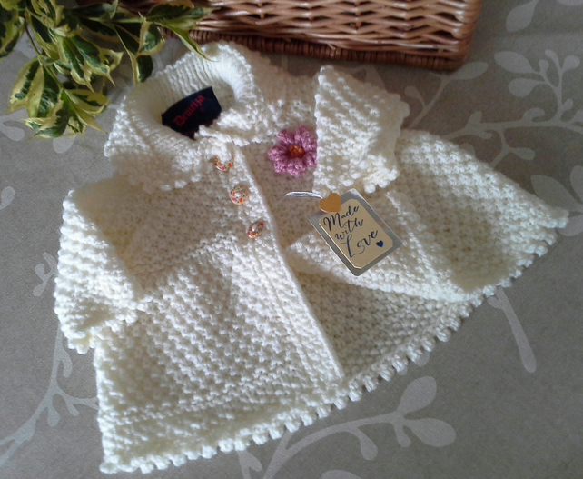 Aran Baby Girl's Jacket with Newborn size