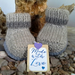 'Jeager' Aran  Wool Baby Boy's Boots size 0-6 months size