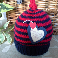 Unisex Knotted Pixie Hat   3-6 months size