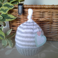 Unisex Knotted Baby Pixie Hat  0-6 months