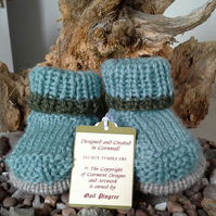 Luxery 'Jeager' Marino Wool Booties  0-3 & 3-6 months sizes available