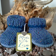 Luxery 'Jeager' Marino Wool Booties  0-3 months size