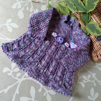 Designer Baby Girl's Knitted Dress with marino wool mix  9-18 months size