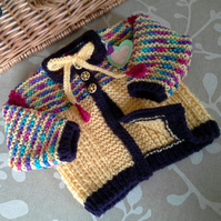Baby Girl's Aran Jacket with wool 0-6 months
