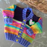 Baby Girl's Rainbow Cardigan  6-12 months