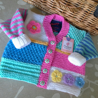 Baby Girls Patchwork Cardigan  6-12 months