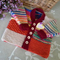 Baby Boys Multicoloured Jacket   0-6 months size