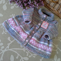 Cosy & Warm Baby Girl's Designer Knitted Dress 3-9 months size