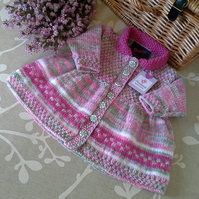 Baby Girl's Designer Knitted Dress 3-9 months size