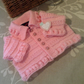 Baby Girl's Designer Knitted Jacket  0-3 months