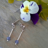Tanzanite 'Grade AA' Sterling Silver Earrings
