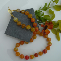 Statement Agate Gold Plate Necklace