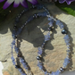 A GRADE Tanzanite & Freshwater Pearl Sterling Silver Necklace